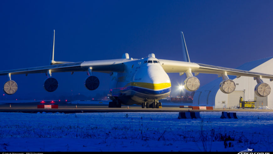 ANTONOV AN-225 MRIYA W OSTRAVIE