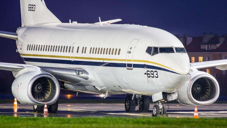 B737 AIR BUCHAREST I USAF W GDAŃSKU