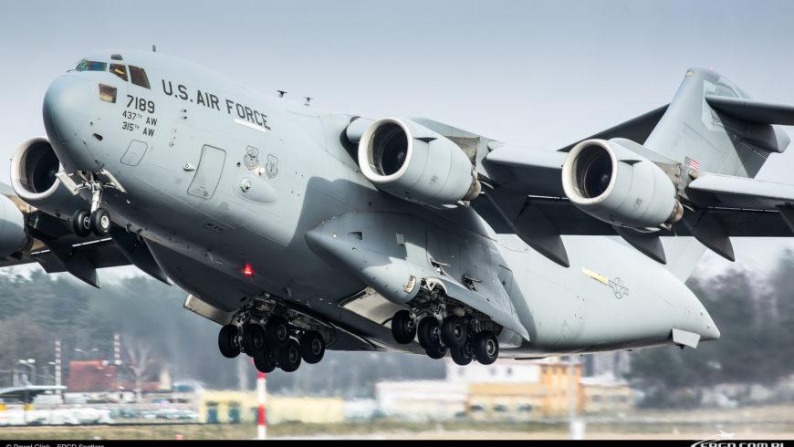 BOEING C-17A GLOBEMASTER III PO RAZ KOLEJNY W GDAŃSKU