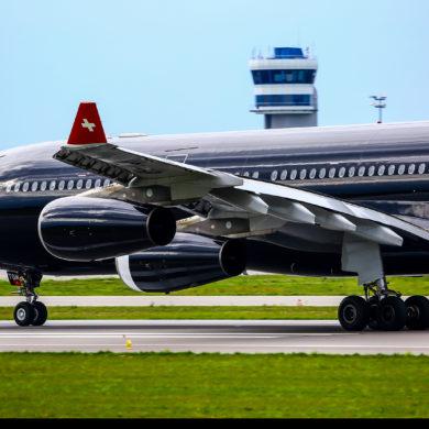 WIZYTA CZARNEGO AIRBUSA A340 W GDAŃSKU