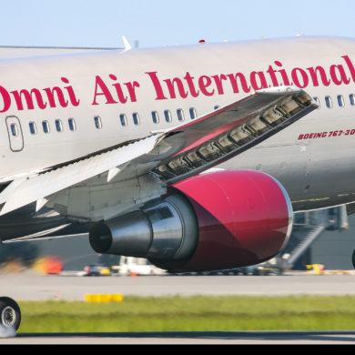Kilka odwiedzin Boeingów 767 Omni w Gdańsku